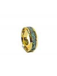 Обручальное кольцо с малахитом