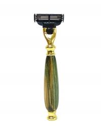 Мужская подарочная бритва Gillette Mach3 из берёзы